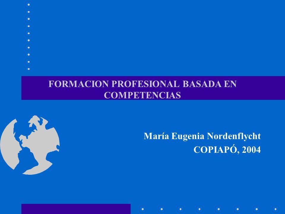 FORMACION PROFESIONAL BASADA EN COMPETENCIAS