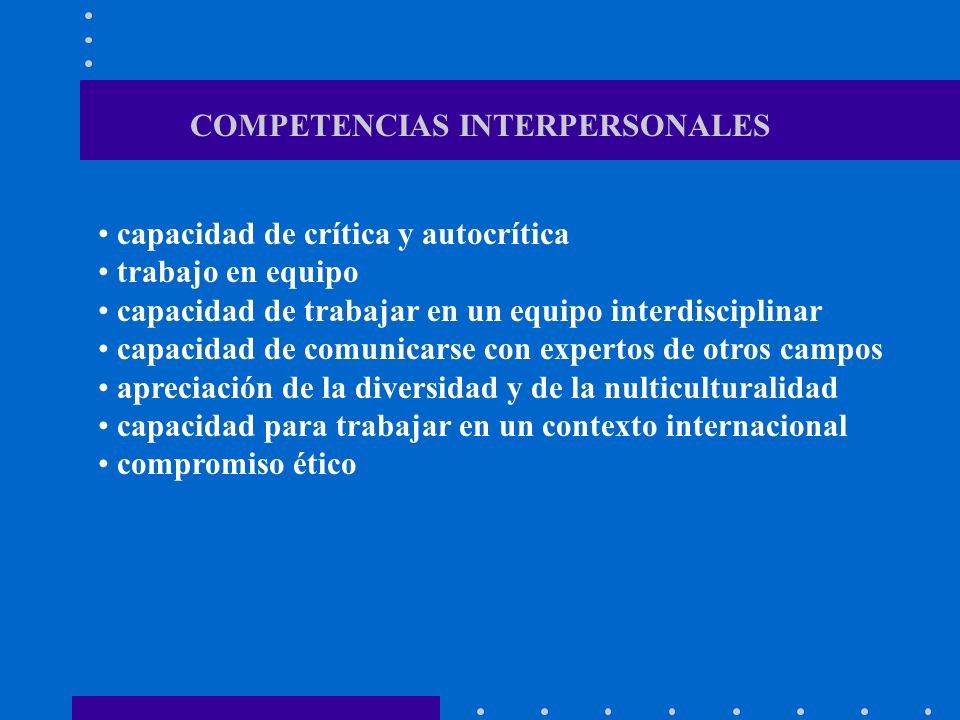 COMPETENCIAS INTERPERSONALES