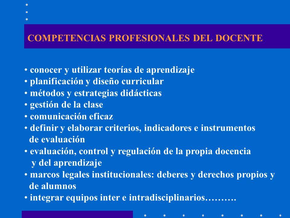 COMPETENCIAS PROFESIONALES DEL DOCENTE