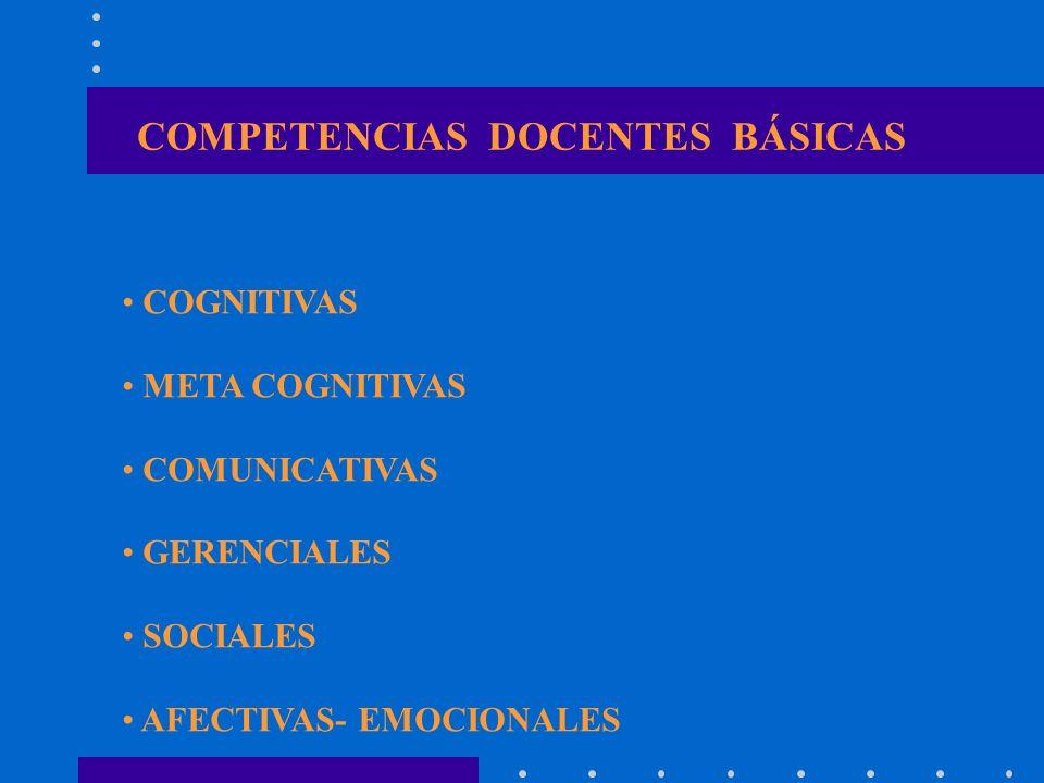 COMPETENCIAS DOCENTES BÁSICAS