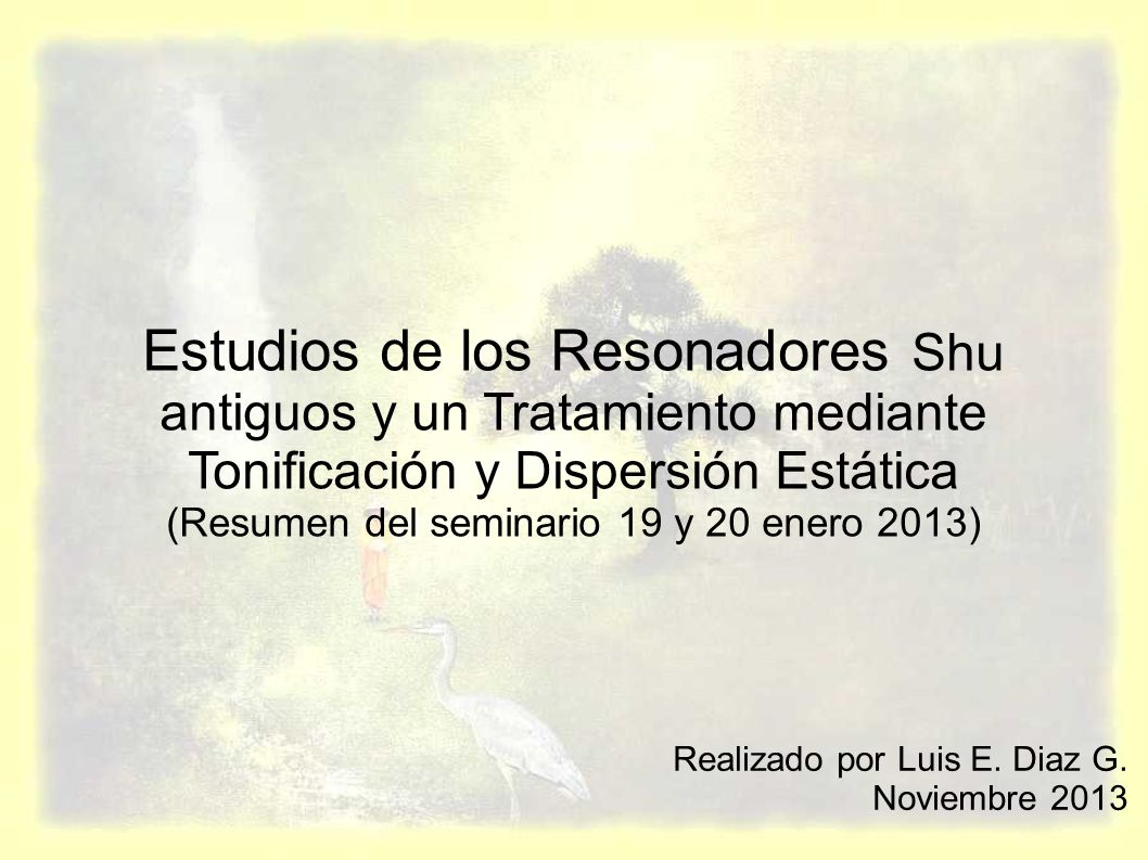 (Resumen del seminario 19 y 20 enero 2013)