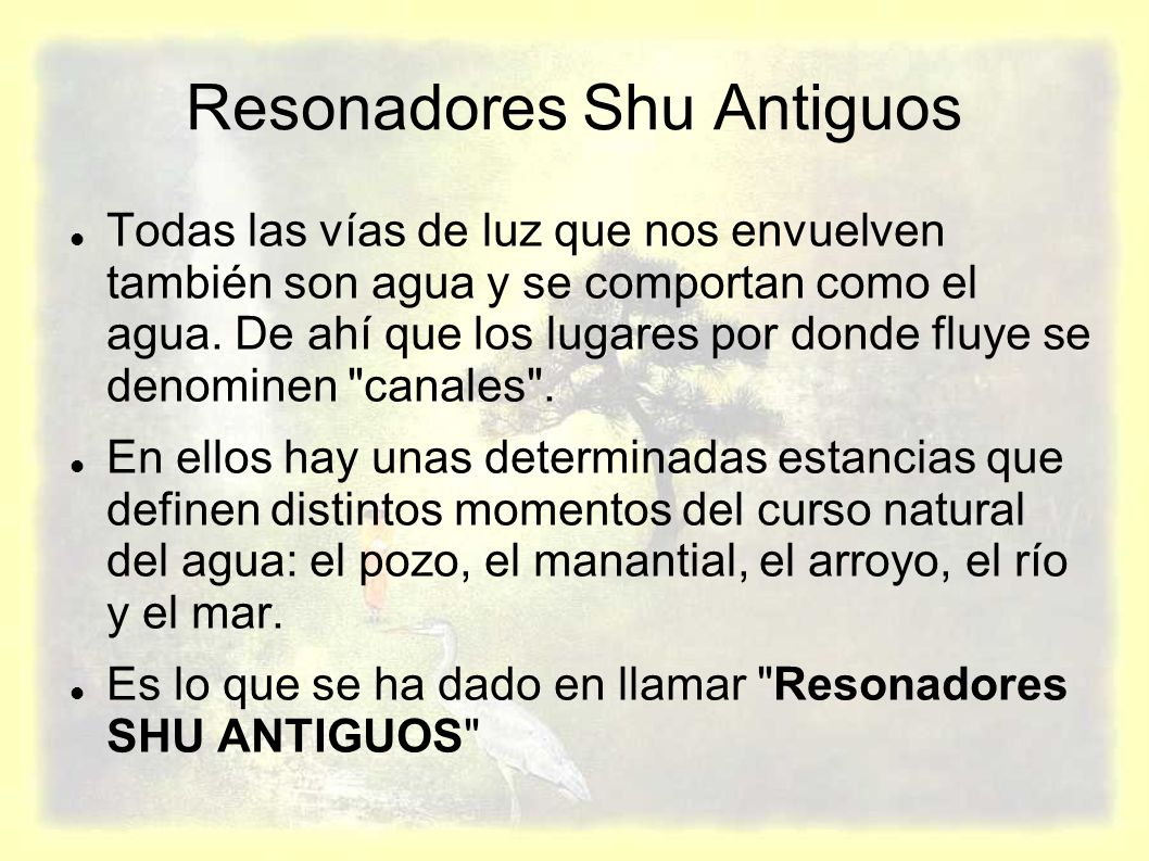 Resonadores Shu Antiguos