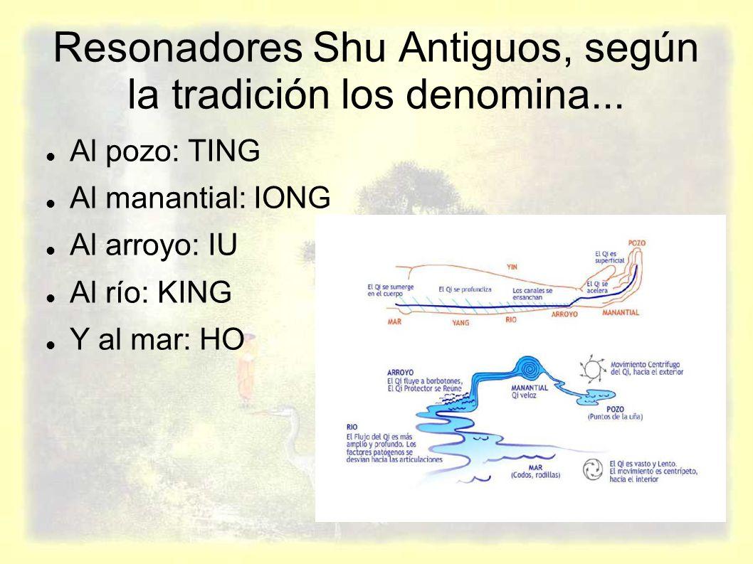 Resonadores Shu Antiguos, según la tradición los denomina...