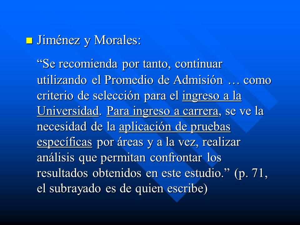 Jiménez y Morales: