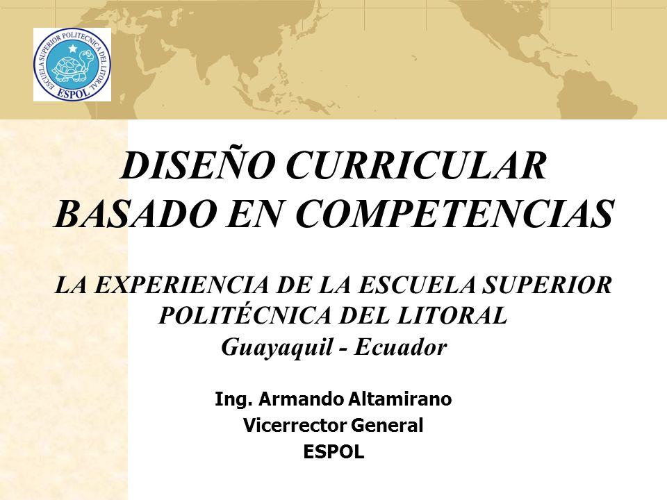 Ing. Armando Altamirano Vicerrector General ESPOL