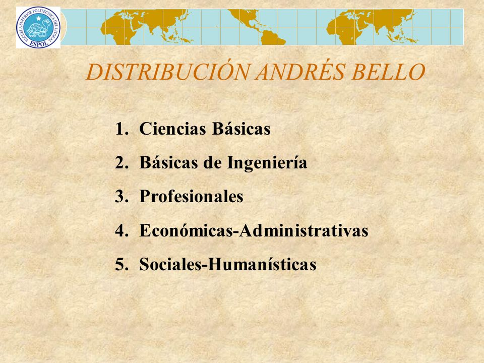 DISTRIBUCIÓN ANDRÉS BELLO