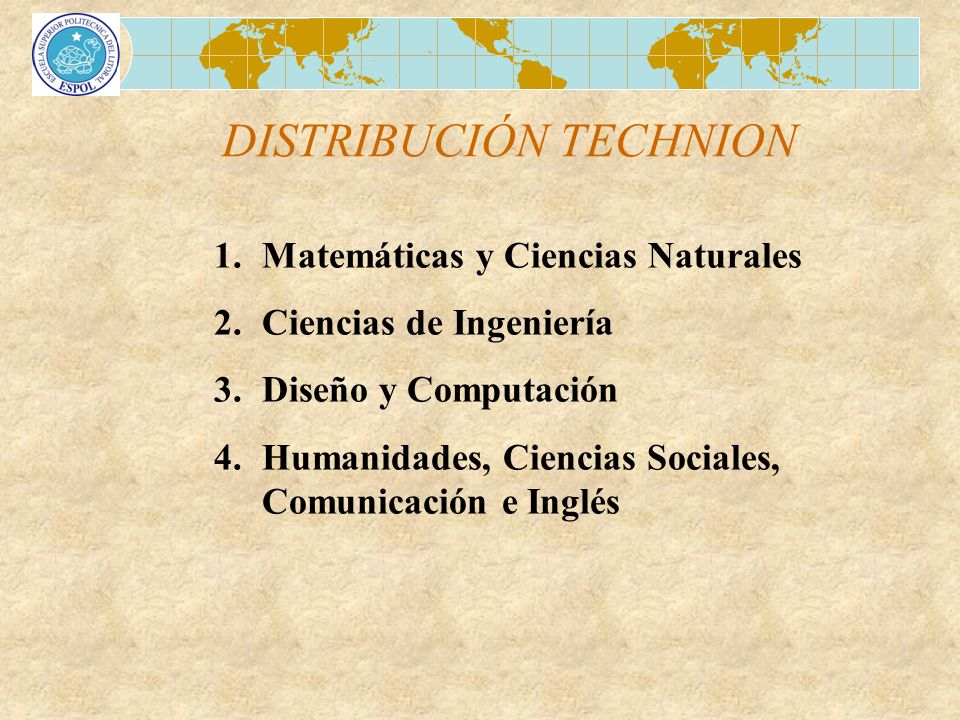 DISTRIBUCIÓN TECHNION