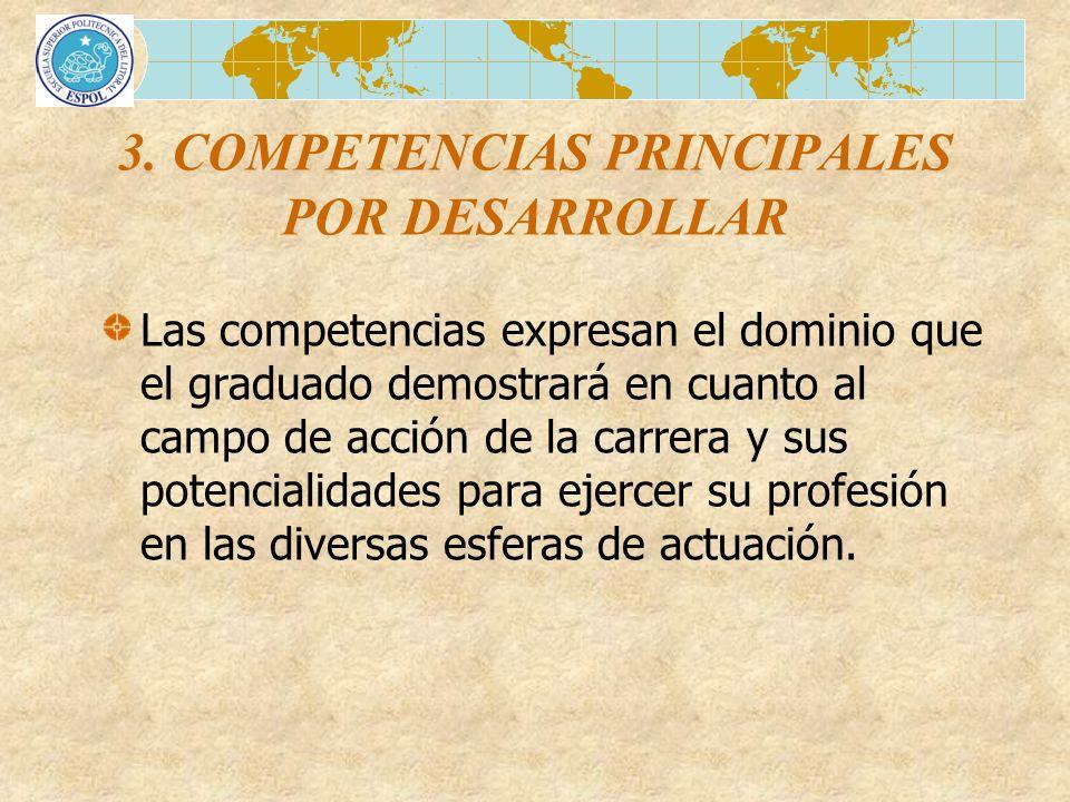 3. COMPETENCIAS PRINCIPALES POR DESARROLLAR