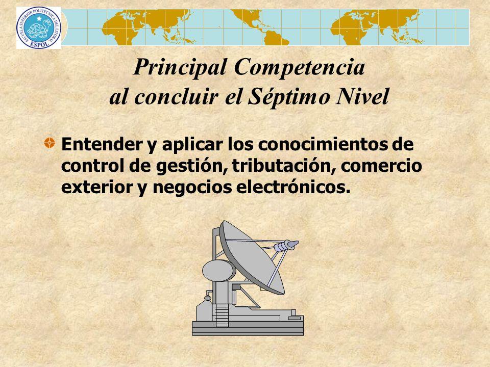 Principal Competencia al concluir el Séptimo Nivel