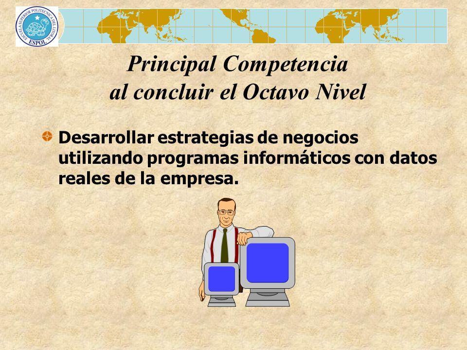 Principal Competencia al concluir el Octavo Nivel