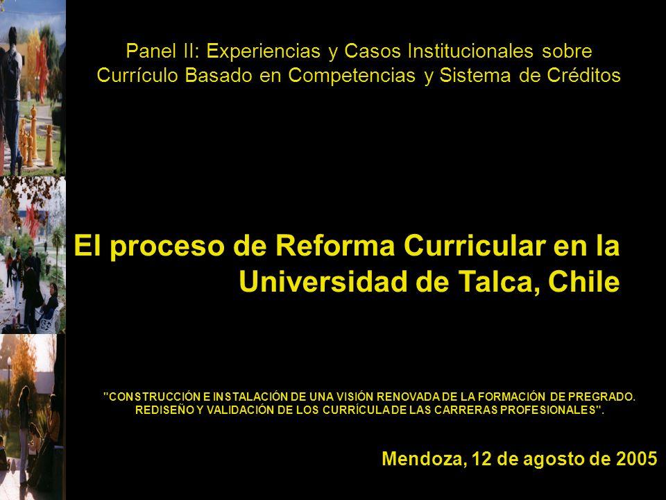 El proceso de Reforma Curricular en la Universidad de Talca, Chile