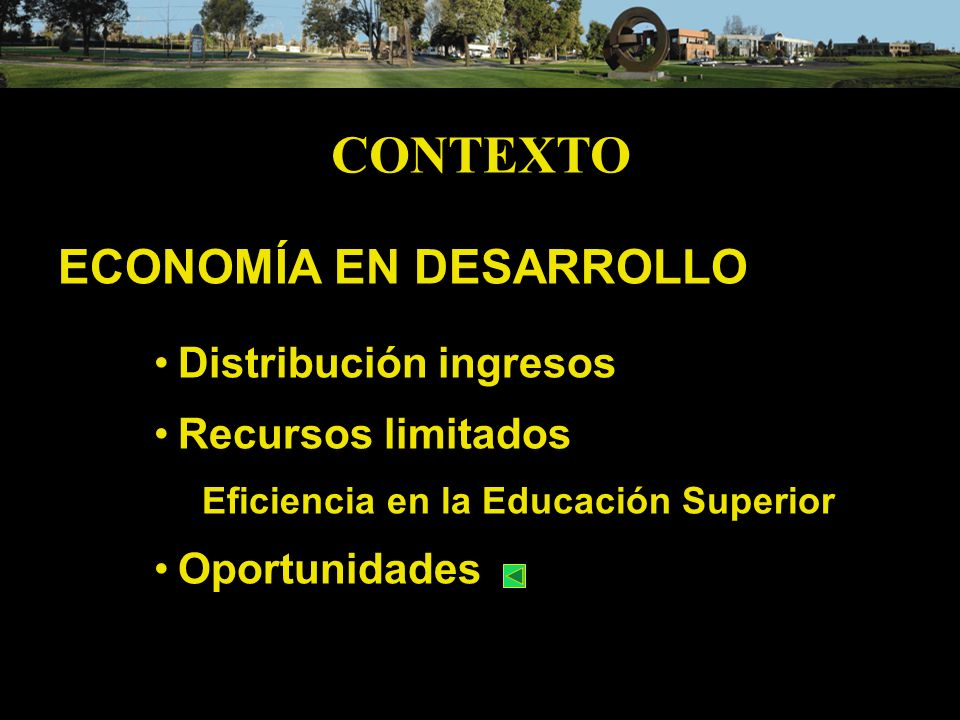 CONTEXTO ECONOMÍA EN DESARROLLO Distribución ingresos