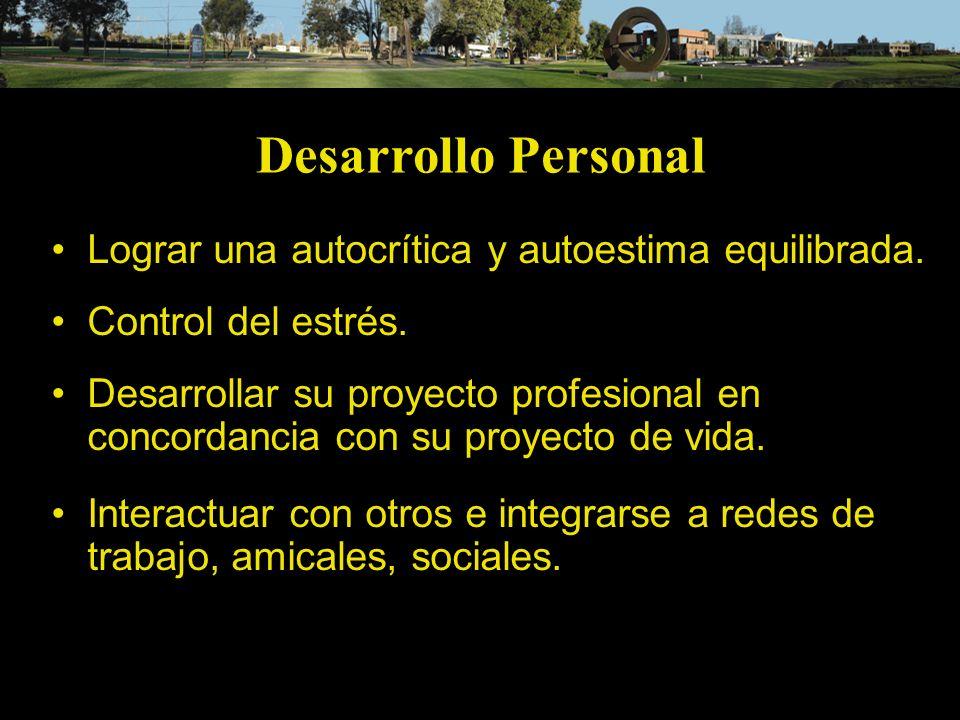 Desarrollo Personal Lograr una autocrítica y autoestima equilibrada.