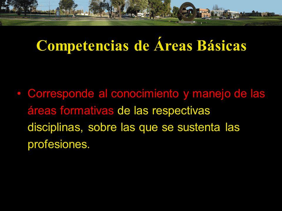 Competencias de Áreas Básicas