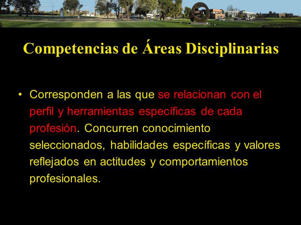 Competencias de Áreas Disciplinarias