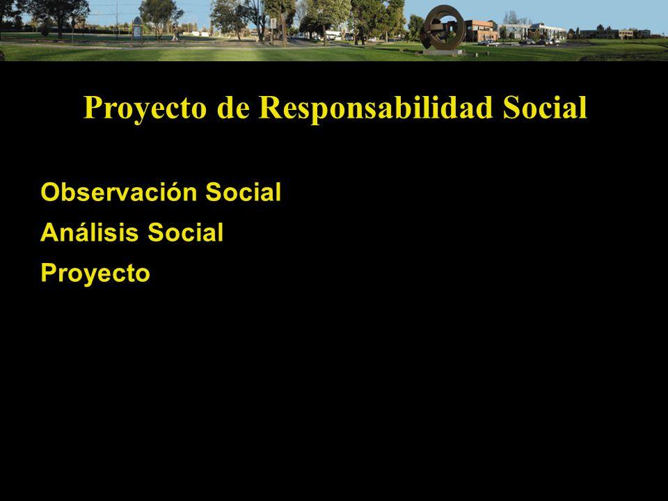 Proyecto de Responsabilidad Social