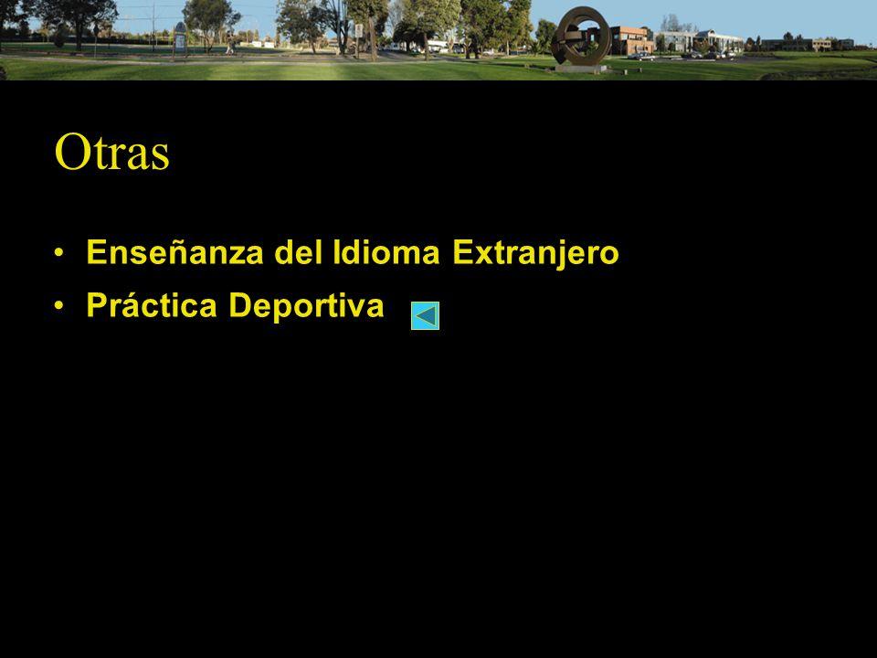 Otras Enseñanza del Idioma Extranjero Práctica Deportiva