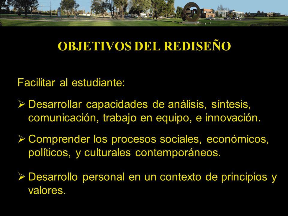 OBJETIVOS DEL REDISEÑO