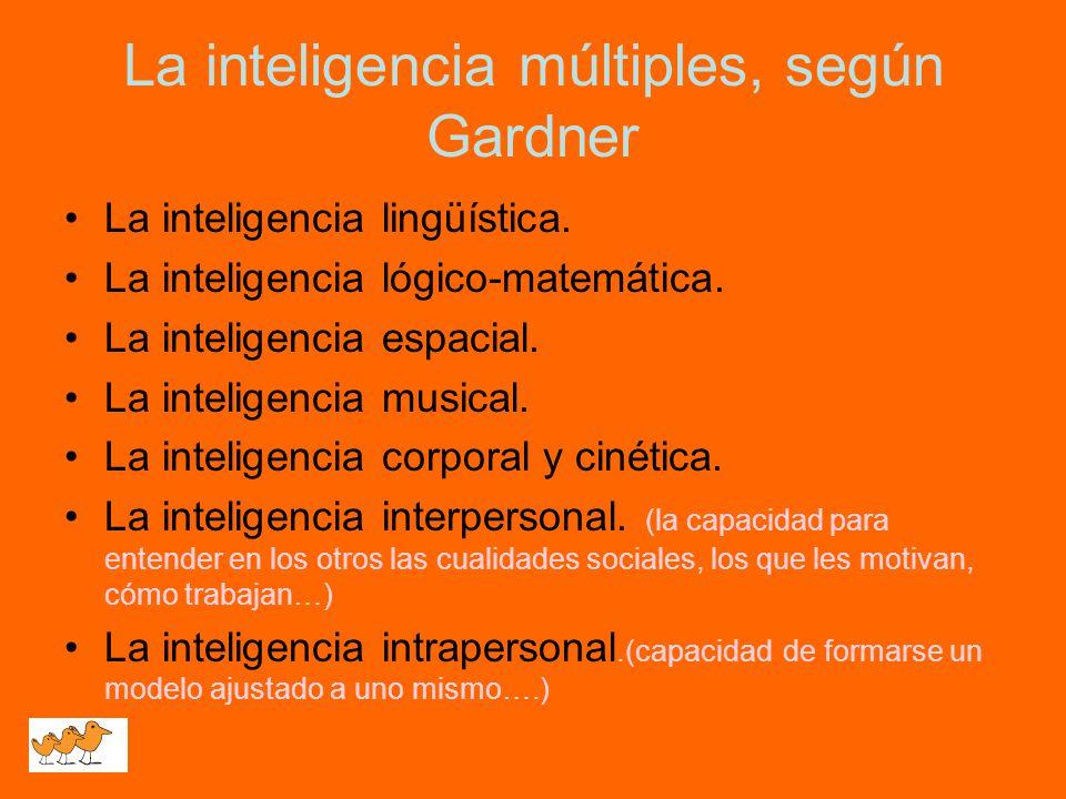 La inteligencia múltiples, según Gardner