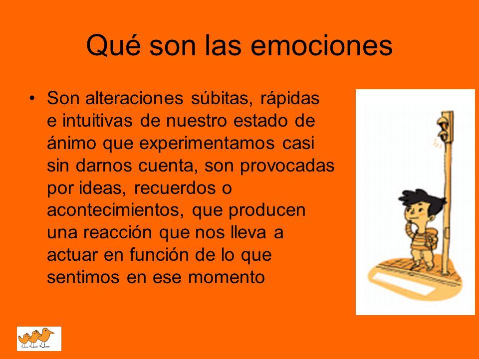 Qué son las emociones