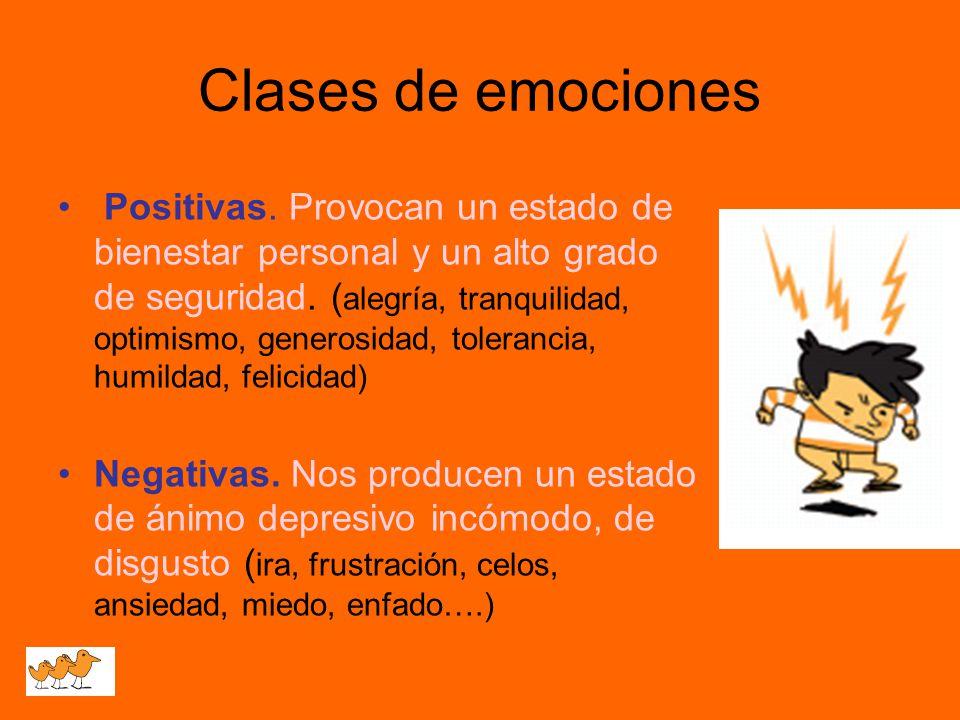 Clases de emociones