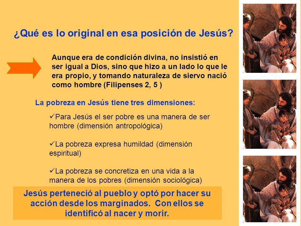 ¿Qué es lo original en esa posición de Jesús