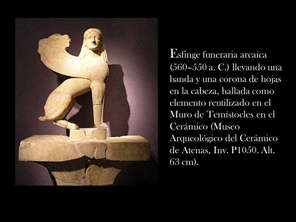 Esfinge funeraria arcaica (560–550 a. C