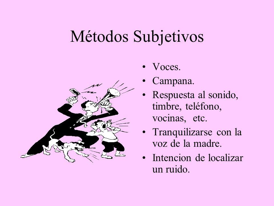 Métodos Subjetivos Voces. Campana.