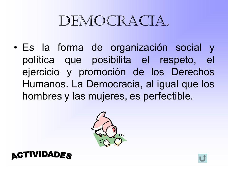 Democracia. ACTIVIDADES