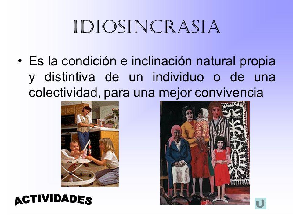 IDIOSINCRASIA ACTIVIDADES