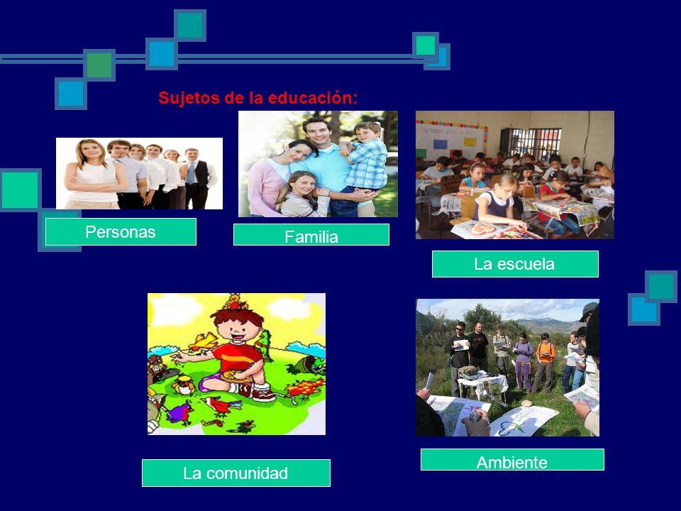 Sujetos de la educación: