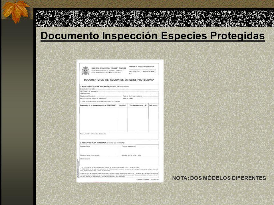 Documento Inspección Especies Protegidas