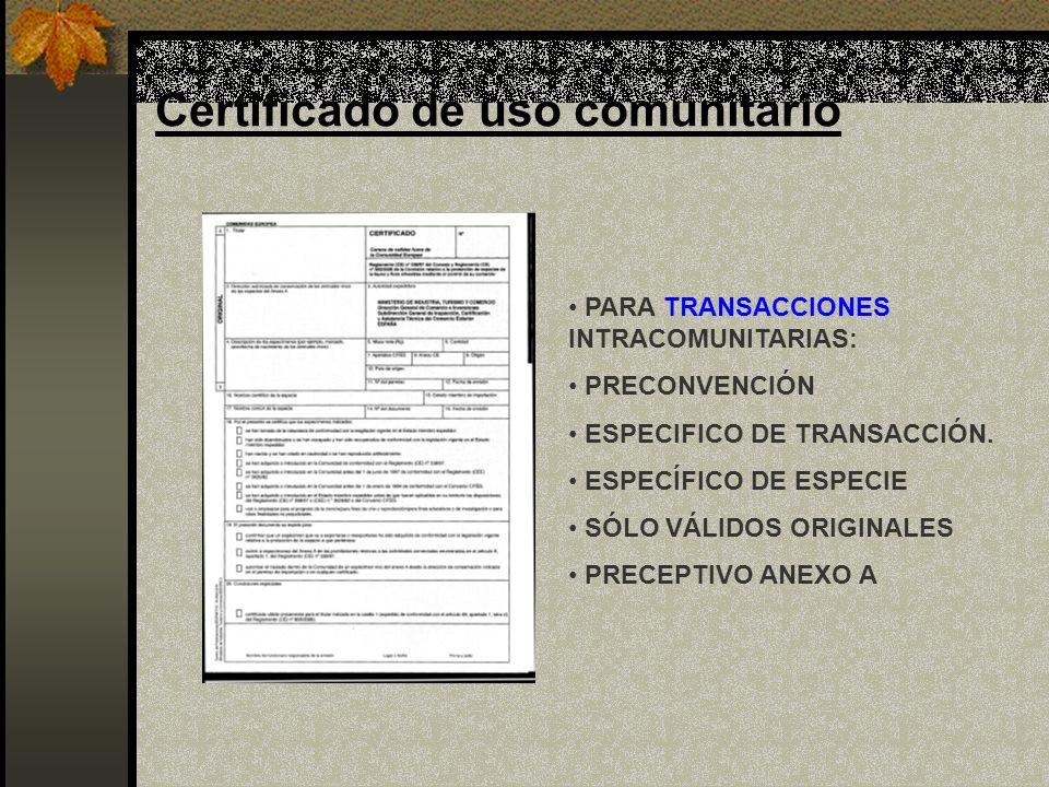 Certificado de uso comunitario