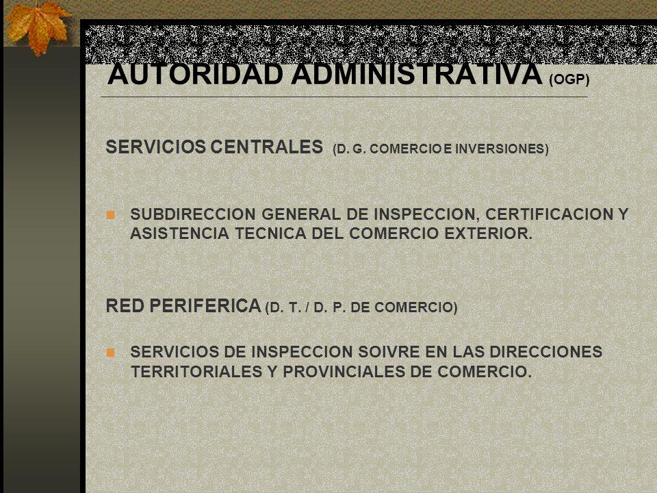 AUTORIDAD ADMINISTRATIVA (OGP)