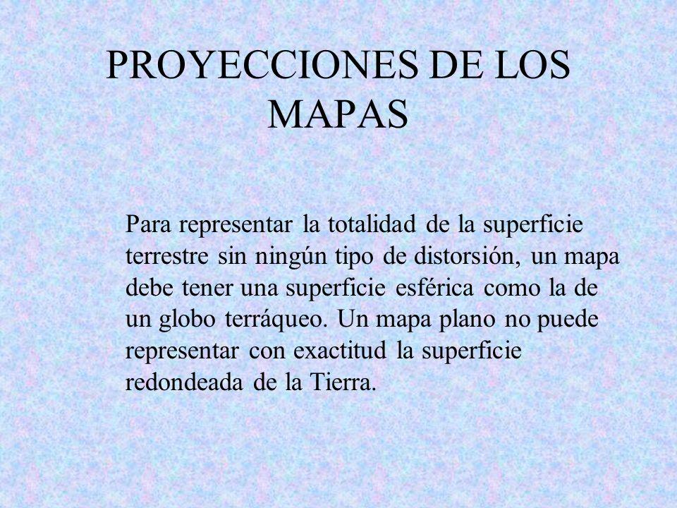 PROYECCIONES DE LOS MAPAS
