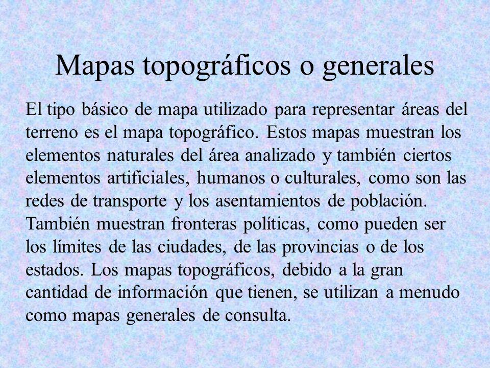 Mapas topográficos o generales