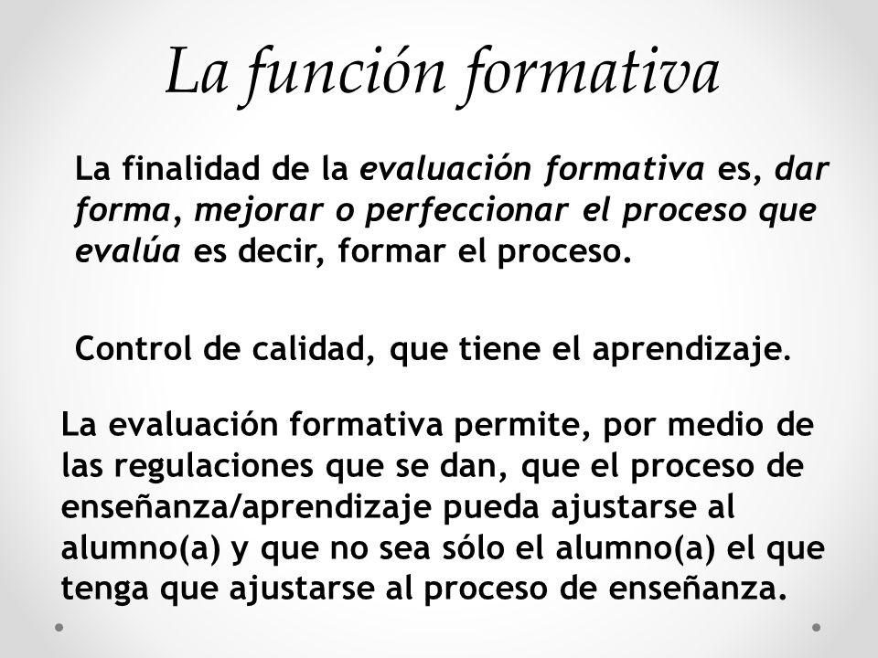 La función formativa