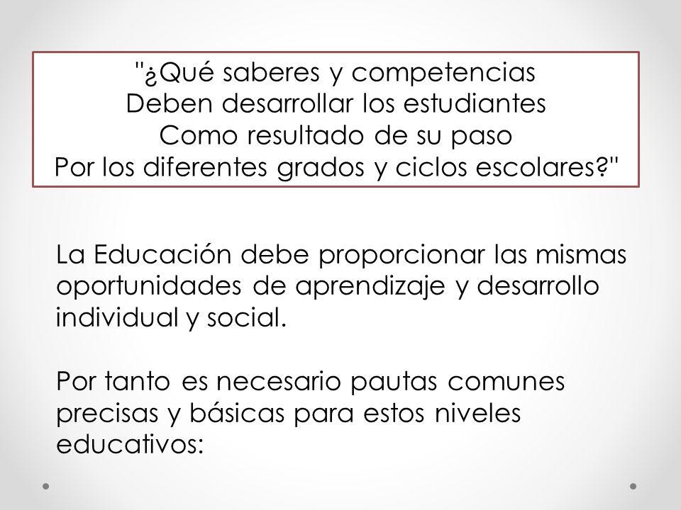 ¿Qué saberes y competencias Deben desarrollar los estudiantes