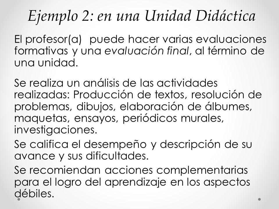 Ejemplo 2: en una Unidad Didáctica