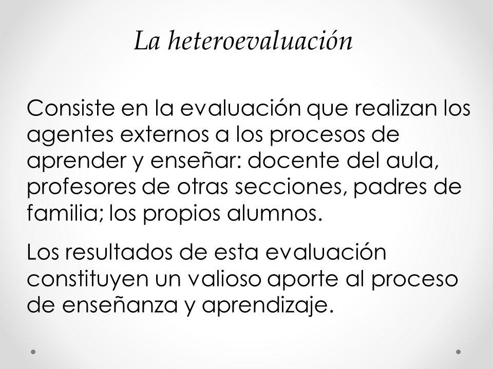 La heteroevaluación