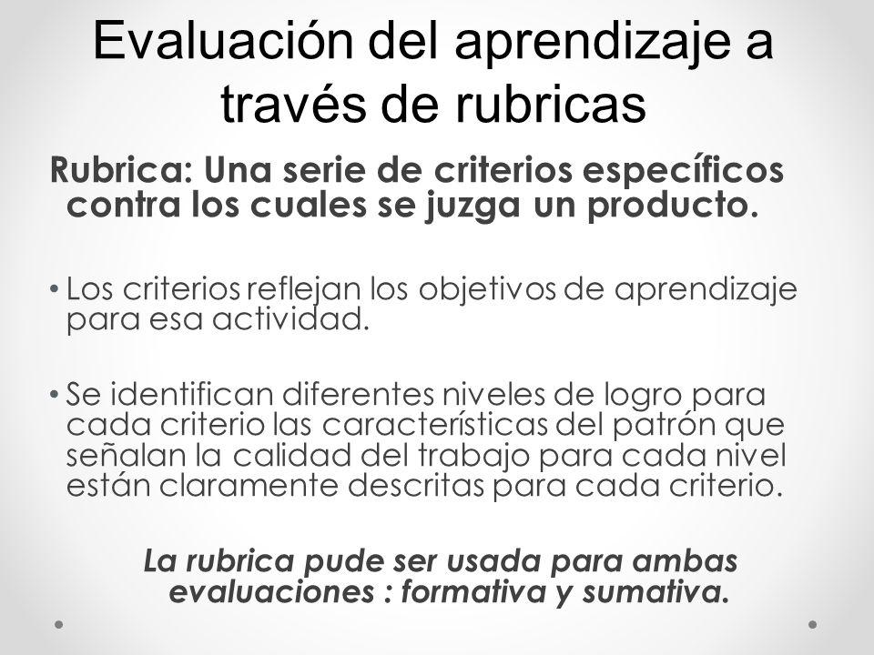 Evaluación del aprendizaje a través de rubricas