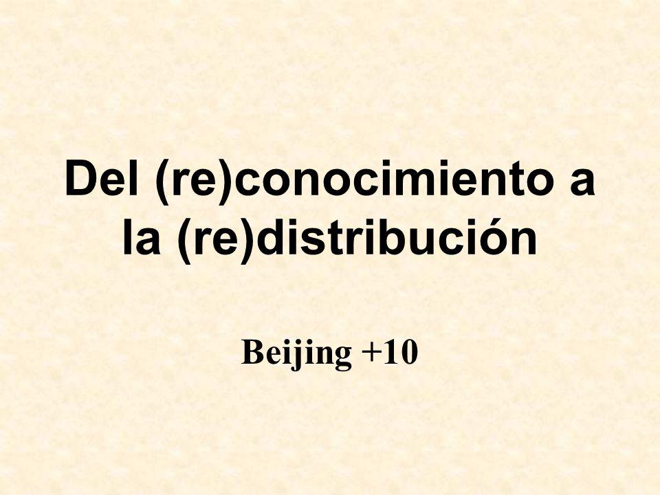 Del (re)conocimiento a la (re)distribución
