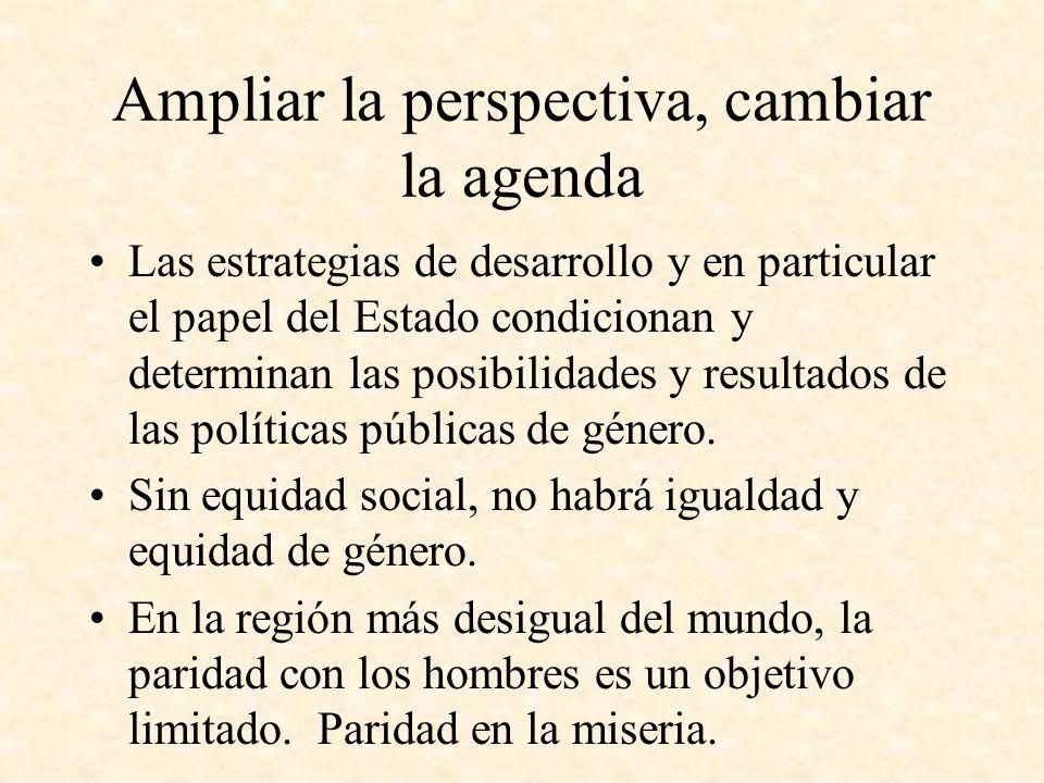 Ampliar la perspectiva, cambiar la agenda
