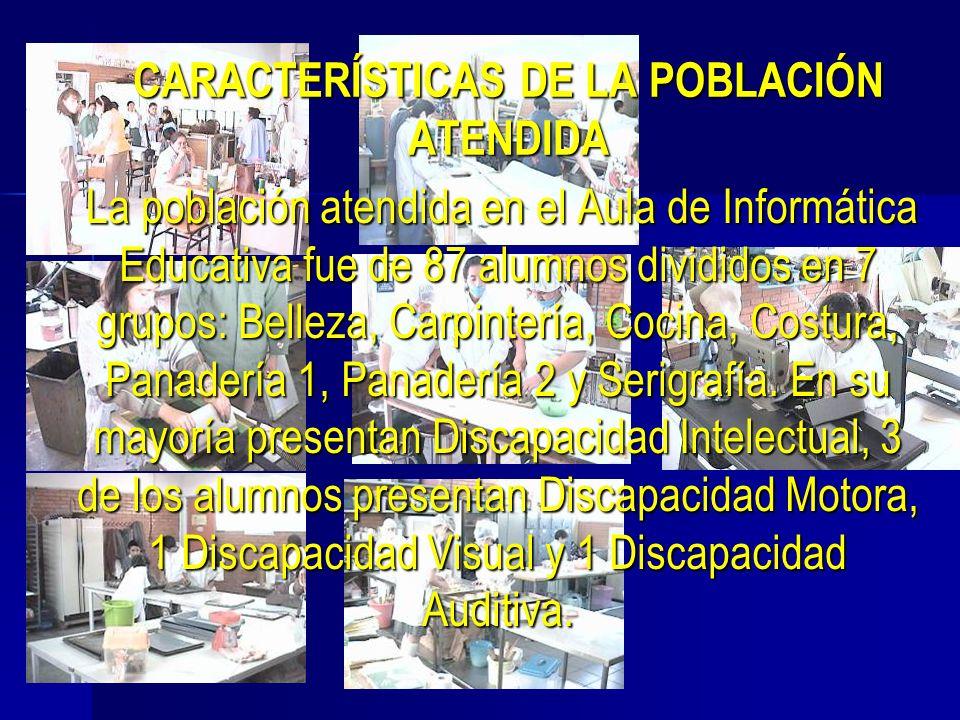 CARACTERÍSTICAS DE LA POBLACIÓN ATENDIDA