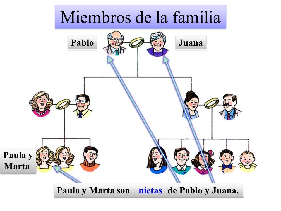 Miembros de la familia Pablo Juana Paula y Marta