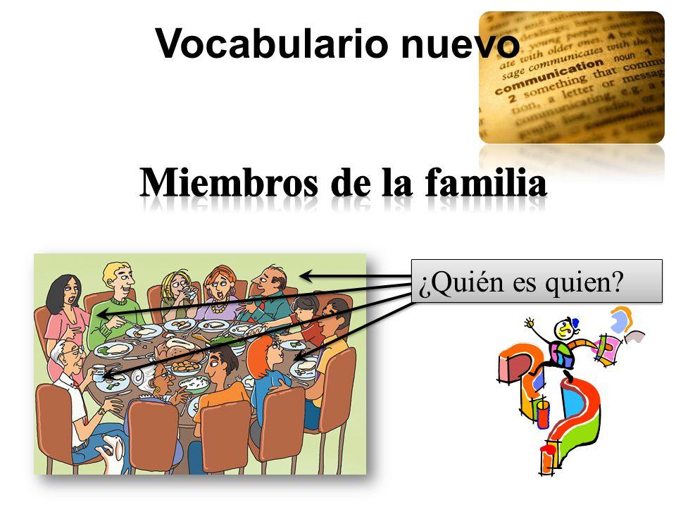 Vocabulario nuevo Miembros de la familia ¿Quién es quien