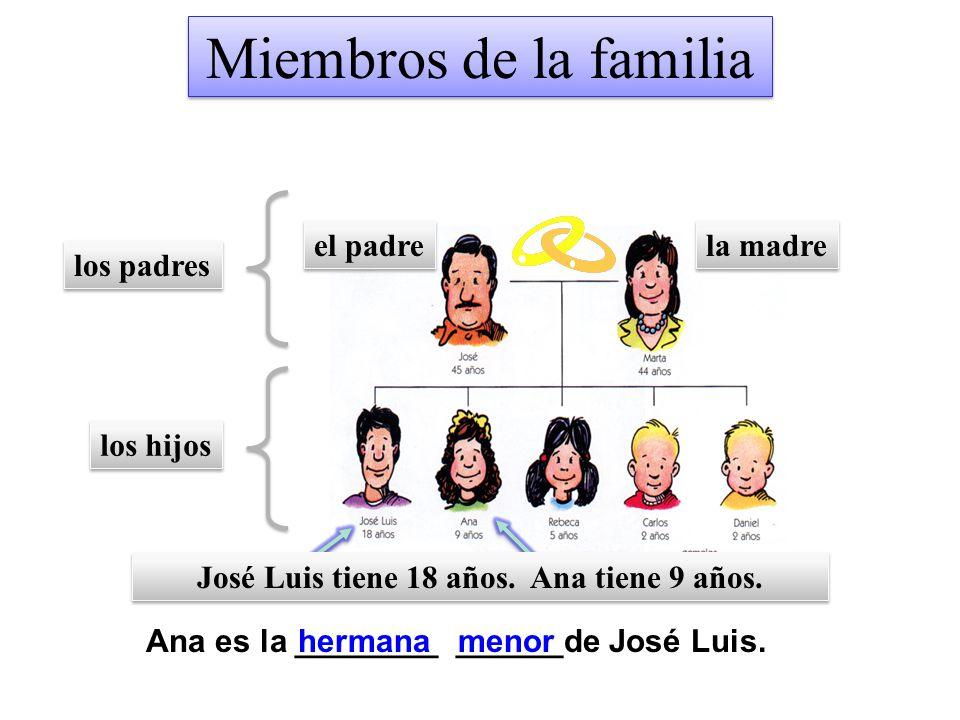 Miembros de la familia el padre la madre los padres los hijos