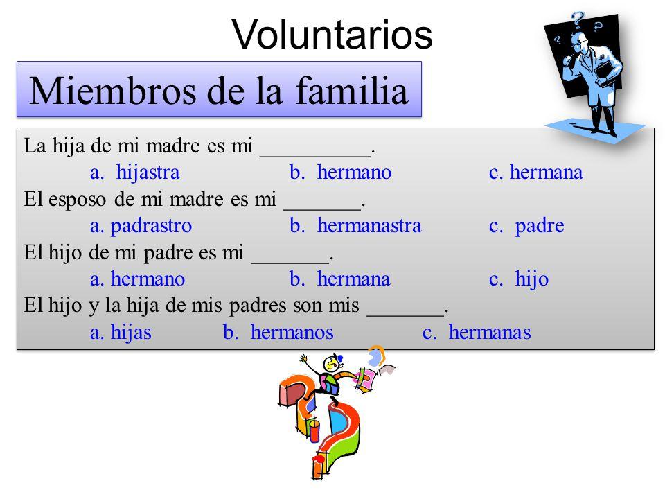 Voluntarios Miembros de la familia