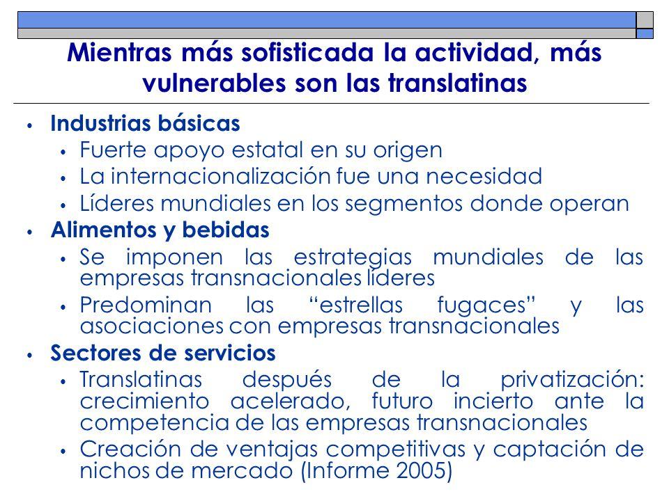 Mientras más sofisticada la actividad, más vulnerables son las translatinas