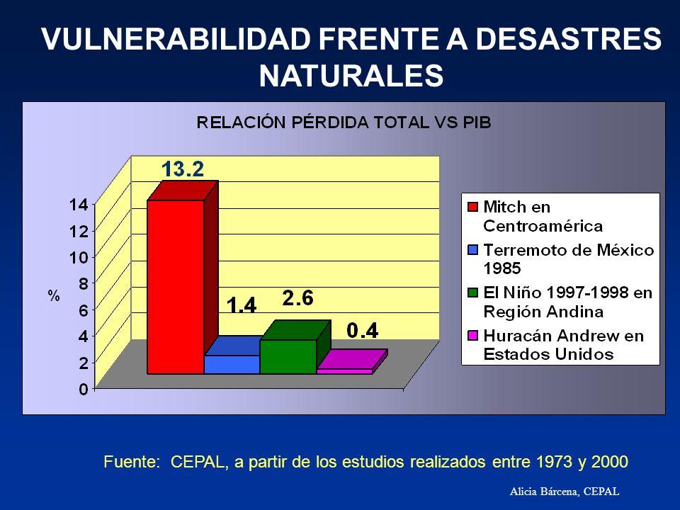 VULNERABILIDAD FRENTE A DESASTRES NATURALES